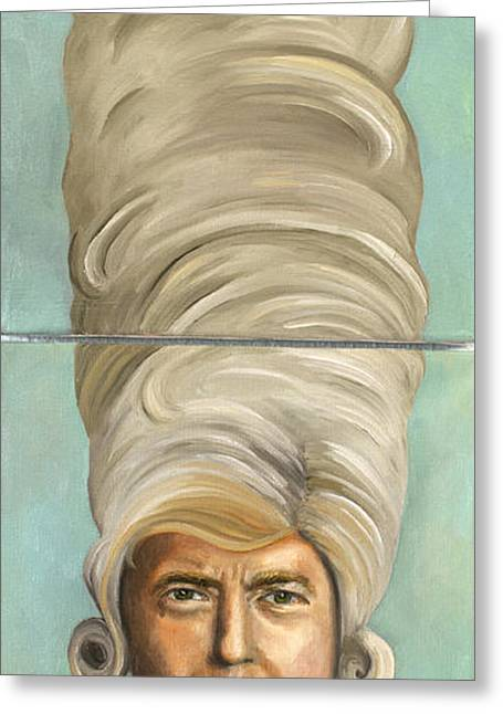 Republican Greeting Cards - Big Wig Greeting Card by Leah Saulnier The Painting Maniac