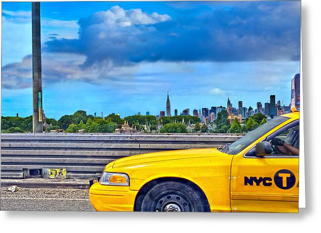 Big Yellow Taxi Greeting Card by Marianne Campolongo