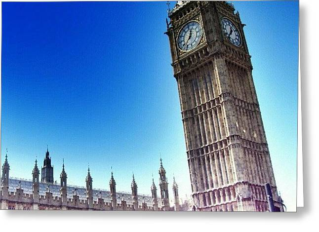 Buy Greeting Cards - #bigben #uk #england #london2012 Greeting Card by Abdelrahman Alawwad