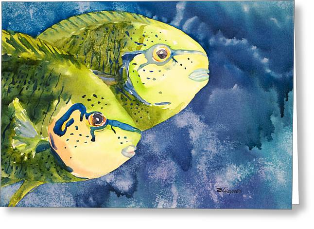 Unique View Paintings Greeting Cards - Bignose Unicornfish Greeting Card by Tanya L Haynes - Printscapes