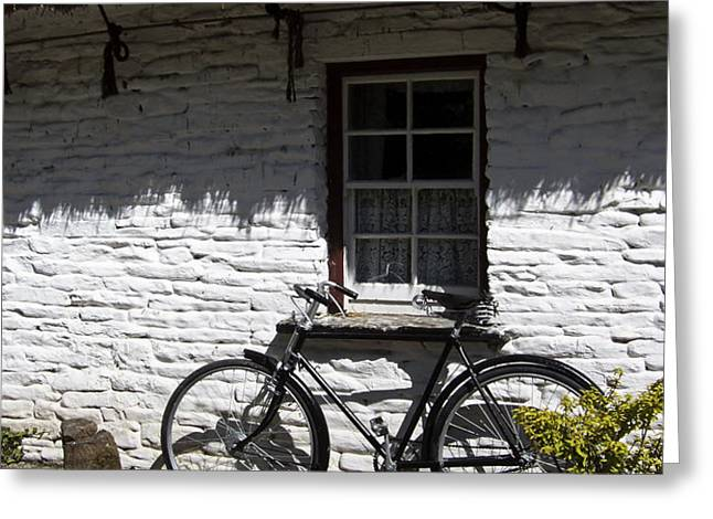 Bike at the Window County Clare Ireland Greeting Card by Teresa Mucha