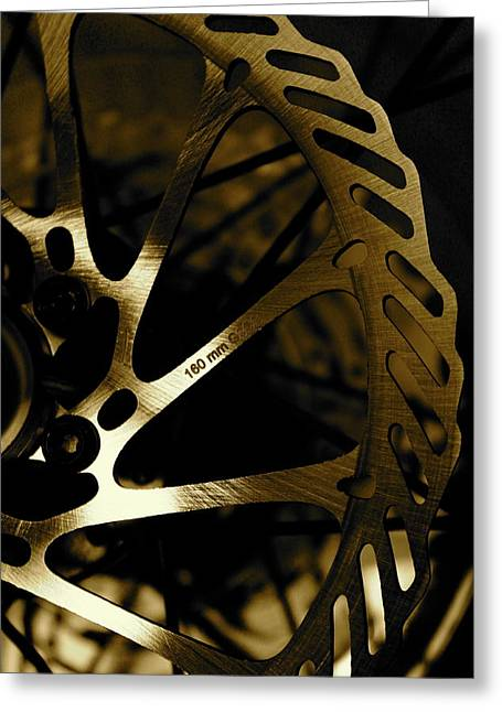 Shinny Greeting Cards - Bike Brake Greeting Card by Angie Wingerd