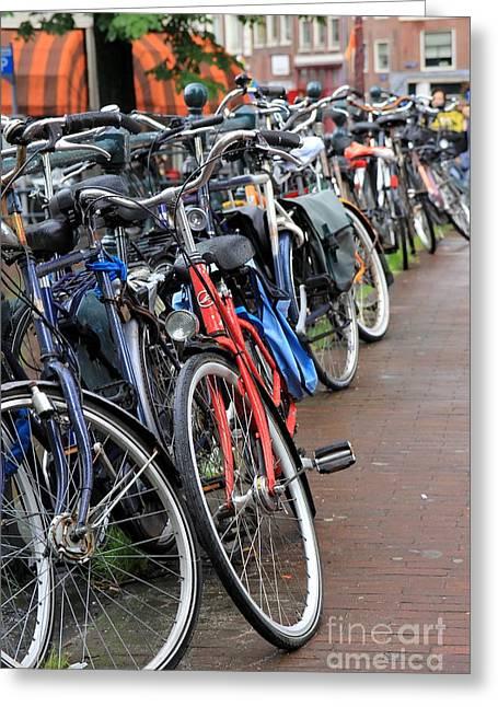Bike Frenzy Greeting Card by Sophie Vigneault