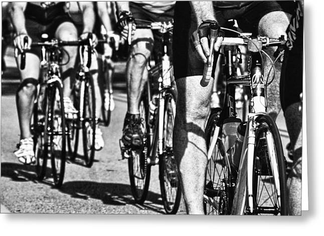 Crimson Tide Greeting Cards - Bike Legs Greeting Card by Michael Thomas