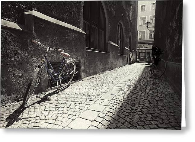 Salzburg Greeting Cards - Bike Greeting Card by Mark Wagoner