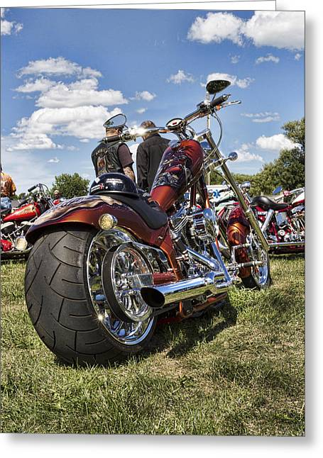 Biker Style Greeting Card by Peter Chilelli
