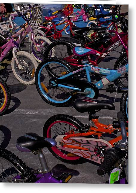 Bike Jewelry Greeting Cards - Bikes and more Bikes Greeting Card by Michael Clarke JP