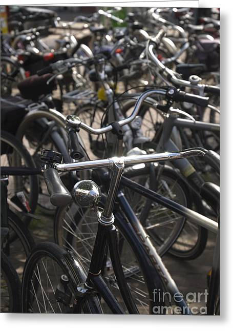 The Netherlands Greeting Cards - Bikes bikes bikes Greeting Card by Andy Smy