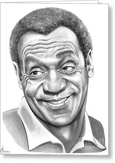 Pencil Drawing Greeting Cards - Bill Cosby Greeting Card by Murphy Elliott