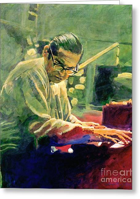 Evans Greeting Cards - Bill Evans Quintessence Greeting Card by David Lloyd Glover