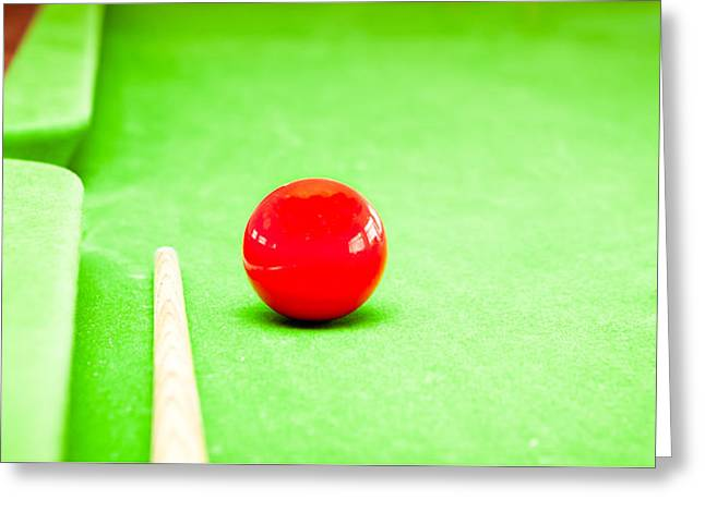 Expert Greeting Cards - Billiard table Greeting Card by Tom Gowanlock