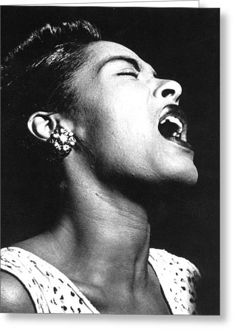 African-americans Greeting Cards - Billie Holiday (1915-1959) Greeting Card by Granger