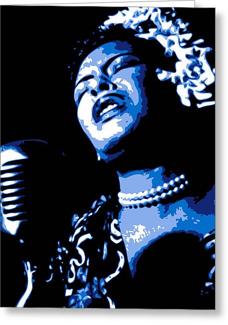 Giclee Digital Art Greeting Cards - Billie Holiday Greeting Card by DB Artist