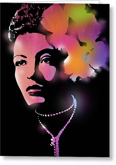 African-american Paintings Greeting Cards - Billie Holiday Greeting Card by Paul Sachtleben