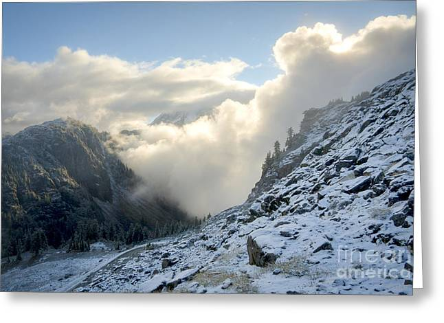 Engulfing Greeting Cards - Billowing Fog Greeting Card by Idaho Scenic Images Linda Lantzy