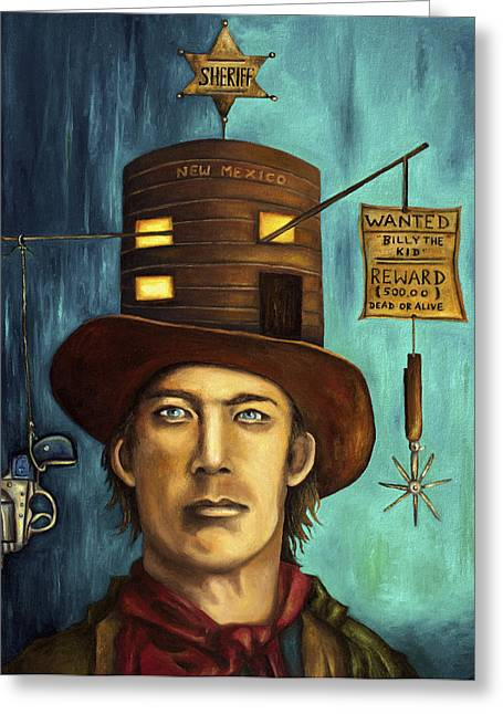 Irish Hat Greeting Cards - Billy The Kid Greeting Card by Leah Saulnier The Painting Maniac