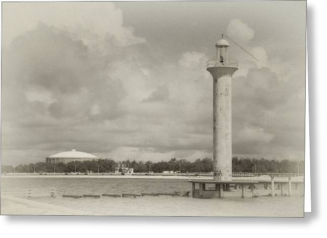 Biloxi Lighthouse Greeting Card by James Corley