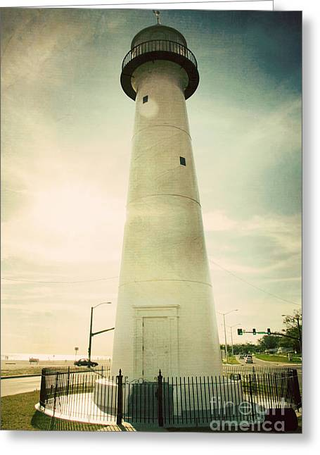Mississippi Gulf Coast Greeting Cards - Biloxi Lighthouse Greeting Card by Joan McCool