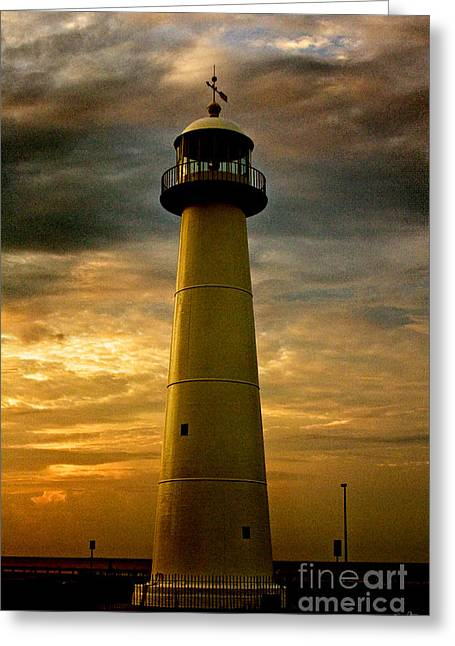 Mississippi Gulf Coast Greeting Cards - Biloxi Lighthouse Greeting Card by Scott Pellegrin