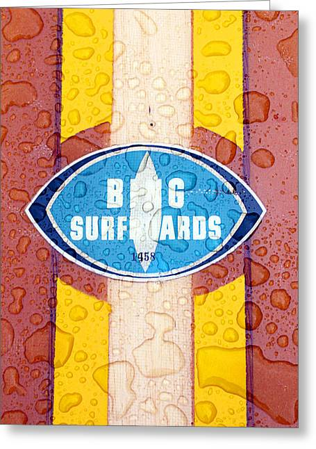 Wave Riders Greeting Cards - Bing Surfboards Greeting Card by Ron Regalado