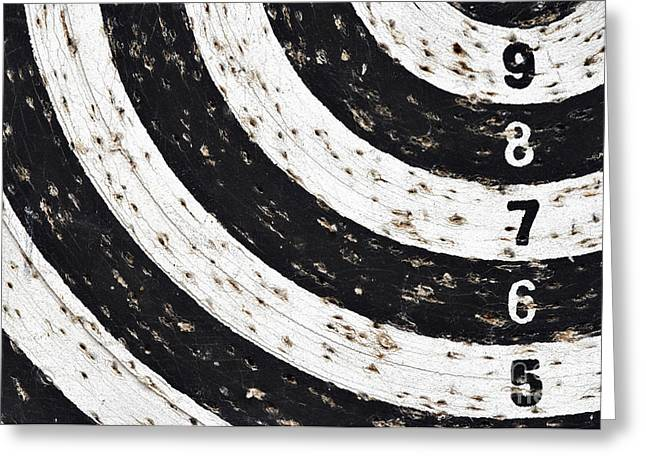 Dartboard Greeting Cards - Bingo - Target With Numeral Row Greeting Card by Michal Boubin
