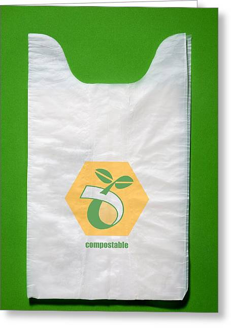 Shopping Bag Greeting Cards - Biodegradable Plastic Bags Greeting Card by Sheila Terry