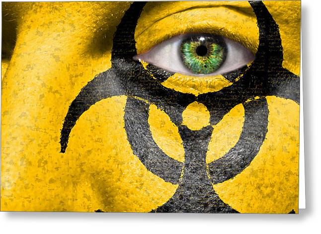 Infectious Substance Greeting Cards - Biohazard Greeting Card by Semmick Photo