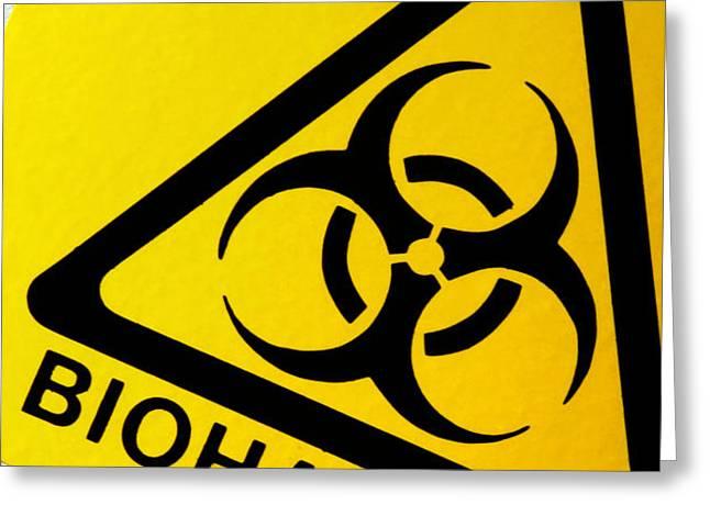 Biohazard Symbol Greeting Card by Tim Vernon, Nhs Trust