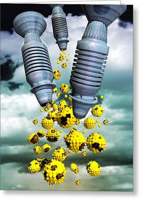 Pathogen Greeting Cards - Biological Warfare Greeting Card by Victor Habbick Visions