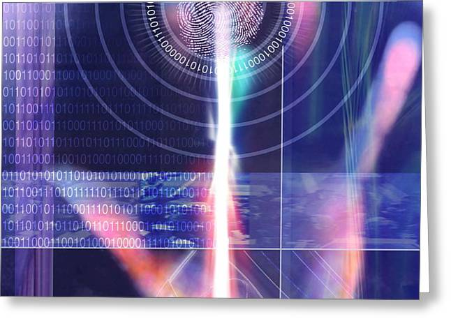 Biometric Fingerprint Greeting Card by Pasieka