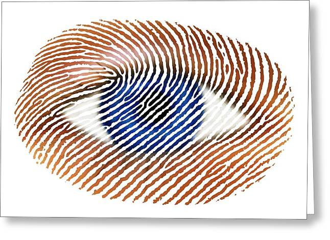 Police State Greeting Cards - Biometric Identification Conceptual Image Greeting Card by Victor De Schwanberg