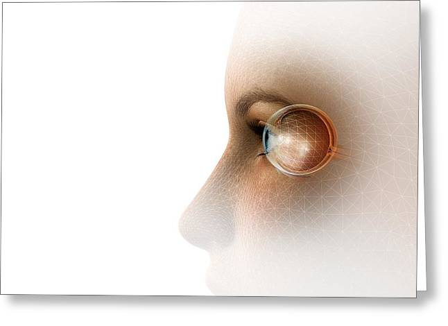Biometric Recognition, Conceptual Artwork Greeting Card by Claus Lunau