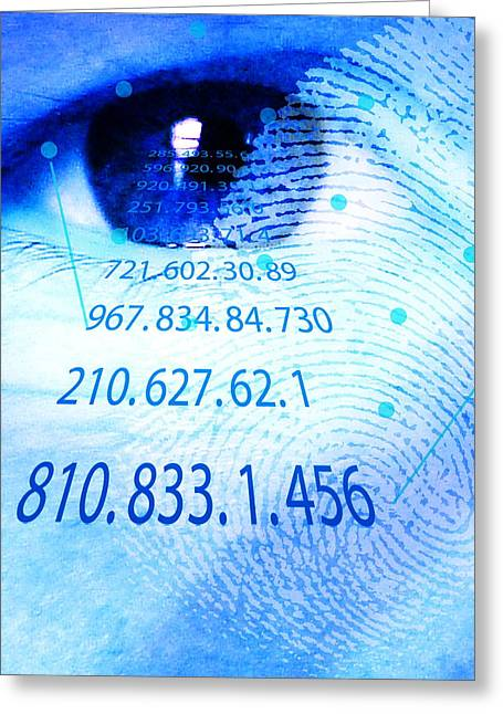 Police State Greeting Cards - Biometric Scans Greeting Card by David Nicholls
