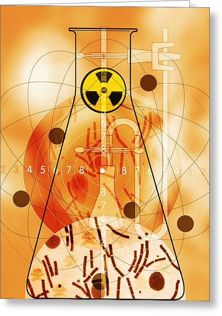 Terrorism Greeting Cards - Bioterrorism Greeting Card by Mehau Kulyk
