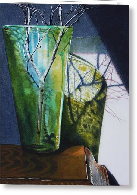 Super Realism Paintings Greeting Cards - Birch Branches Greeting Card by Denny Bond
