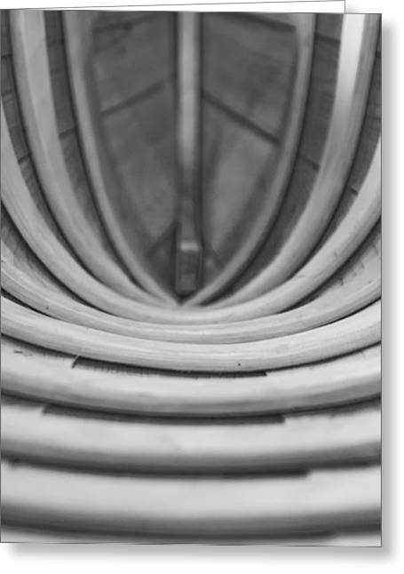 Canoe Photographs Greeting Cards - Birch Canoe Abstract Greeting Card by Brian Mollenkopf