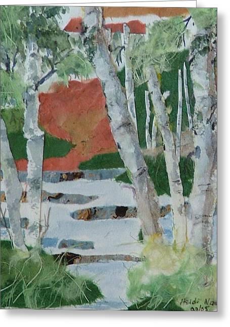 Heidi Patricio-nadon Greeting Cards - Birch Forest Greeting Card by Heidi Patricio-Nadon