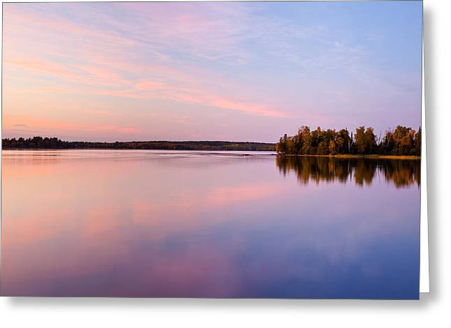 Boundary Waters Greeting Cards - Birch Lake Sunset Greeting Card by Adam Pender