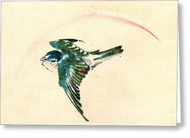 Sketchbook Photographs Greeting Cards - Bird Flying 1840 Greeting Card by Padre Art