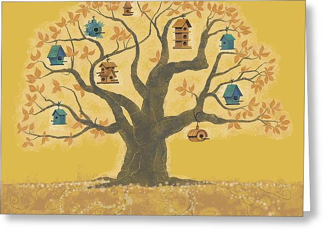 Dennis Wunsch Greeting Cards - Bird Houses 01 Greeting Card by Dennis Wunsch