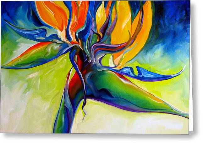 Bird Of Paradise Greeting Cards - Bird of Paradise 24 Greeting Card by Marcia Baldwin