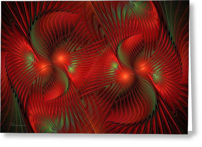 Business Greeting Cards - Bird Of Paradise Abstract Greeting Card by Georgiana Romanovna