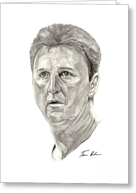 Larry Bird Greeting Cards - Bird Greeting Card by Tamir Barkan