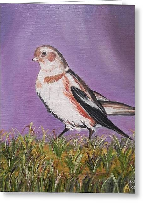 Bird Greeting Card by Usha Rai