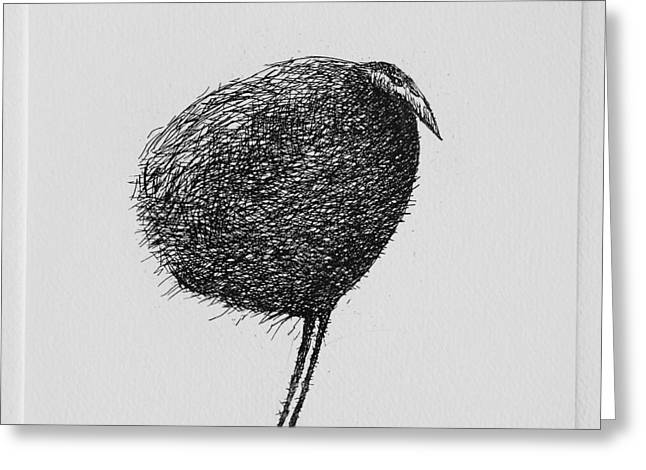 Printmaking Greeting Cards - Bird Greeting Card by Valdas Misevicius