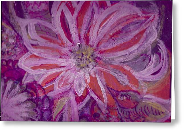 Fantastique Paintings Greeting Cards - Bird Watching Flower Greeting Card by Anne-Elizabeth Whiteway