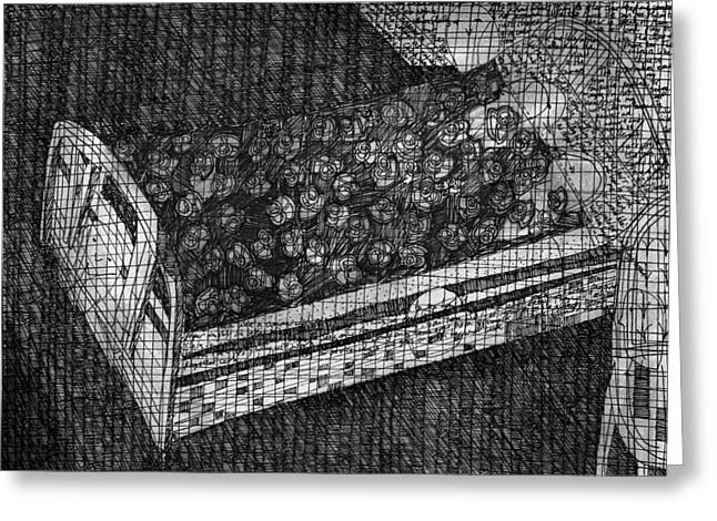 Indoor Drawings Greeting Cards - Birds in Bed Greeting Card by Anon Artist
