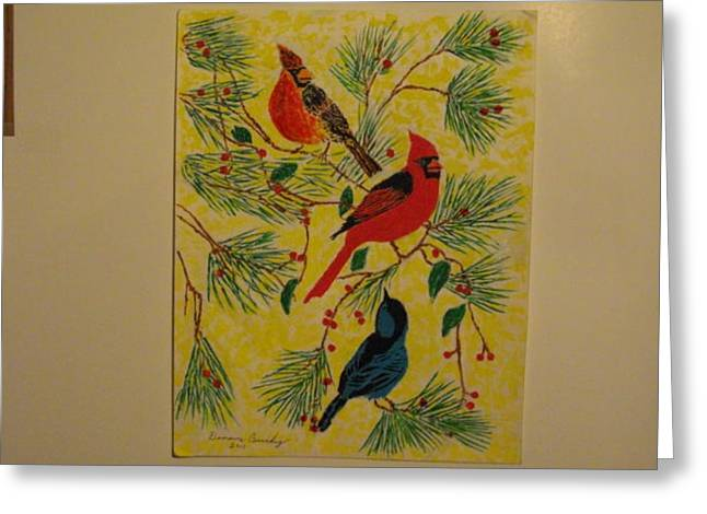 Bird Jewelry Greeting Cards - Birds In the Trees Greeting Card by Dennis Buchy