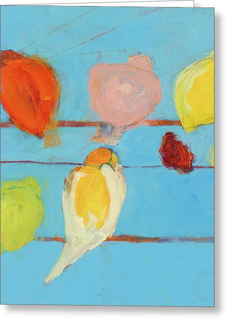Print On Acrylic Greeting Cards - Birds Greeting Card by Laurie Breen