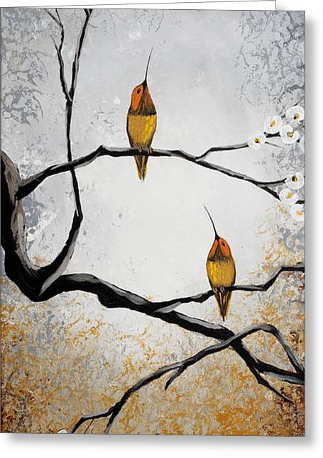 Nature Abstracts Greeting Cards - Birds Greeting Card by Mike Irwin